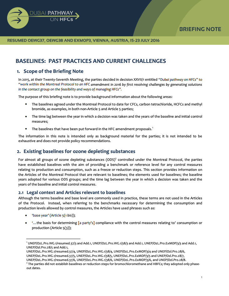 Baselines:  Past practices and current challenges